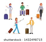 people character traveling in... | Shutterstock .eps vector #1432498715