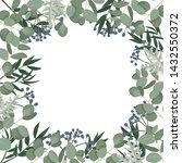 vector template with eucalyptus ... | Shutterstock .eps vector #1432550372