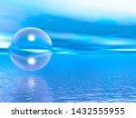Transparent Ball Over The Sea...