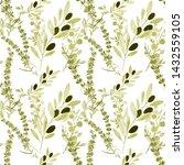 watercolor seamless pattern... | Shutterstock . vector #1432559105