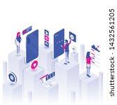 modern flat design isometric...   Shutterstock .eps vector #1432561205