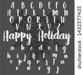 vector set of handwritten... | Shutterstock .eps vector #1432577435