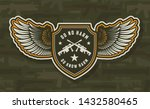 vintage military colorful... | Shutterstock .eps vector #1432580465