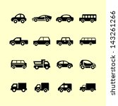 auto icon collection | Shutterstock .eps vector #143261266