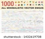 all type of emojis  stickers ...   Shutterstock .eps vector #1432619708