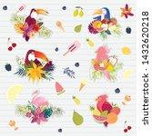 vector summer color cocktails...   Shutterstock .eps vector #1432620218