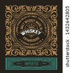 old whiskey label woth vintage... | Shutterstock .eps vector #1432642805