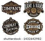 four old logos for packing | Shutterstock .eps vector #1432642982