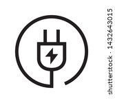 plug in icon in trendy outline...