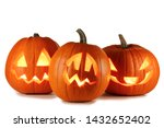 Three Halloween Pumpkins...