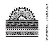tribal pattern tattoo... | Shutterstock .eps vector #1432656575