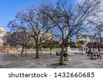 malaga  spain   june 2  2018 ...   Shutterstock . vector #1432660685