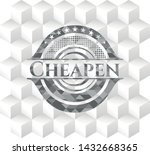 cheapen grey emblem with cube... | Shutterstock .eps vector #1432668365