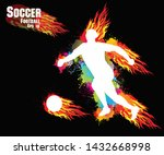 sports training  soccer... | Shutterstock .eps vector #1432668998