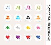 16 icon loupe  user profile ...