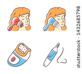 beauty devices color icons set. ... | Shutterstock .eps vector #1432685798