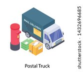 icon of mail delivery services ... | Shutterstock .eps vector #1432696685