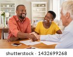 mature black husband shaking... | Shutterstock . vector #1432699268