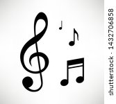 music notes  song  melody and... | Shutterstock .eps vector #1432706858