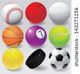 Sport Balls Vector Illustratio...