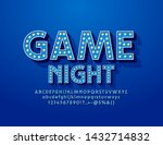 vector retro style poster game... | Shutterstock .eps vector #1432714832