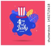 fourth of july holiday banner... | Shutterstock .eps vector #1432715618