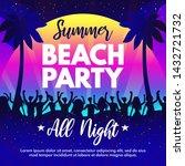 summer beach party template... | Shutterstock .eps vector #1432721732