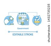 government concept icon.... | Shutterstock .eps vector #1432735235