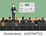 caucasian man giving business... | Shutterstock .eps vector #1432744715