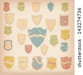 retro shields  labels | Shutterstock . vector #143274736