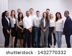 group of young successful multi ...   Shutterstock . vector #1432770332