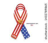 ribbons flag of america and... | Shutterstock .eps vector #1432789865
