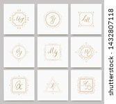 set of luxury monogram logo...   Shutterstock .eps vector #1432807118
