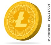 litecoin sign 3d icon.... | Shutterstock .eps vector #1432817705