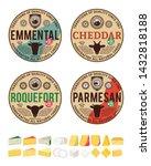 vector cheese vintage round...   Shutterstock .eps vector #1432818188