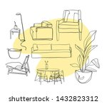 outline silhouette interior... | Shutterstock .eps vector #1432823312