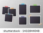 set of vintage photo frame with ... | Shutterstock .eps vector #1432844048