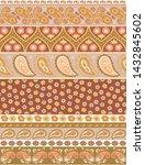 indian rug tribal ornament... | Shutterstock .eps vector #1432845602