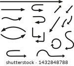 set of black vector arrows... | Shutterstock .eps vector #1432848788
