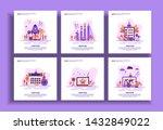 set of modern flat design... | Shutterstock .eps vector #1432849022