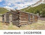 Ruins Of A Wooden Cabin Built...