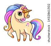 cute little unicorn.... | Shutterstock . vector #1432861502