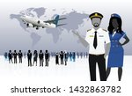 world business travel people... | Shutterstock .eps vector #1432863782