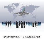 world business travel people... | Shutterstock .eps vector #1432863785