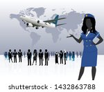 world business travel people... | Shutterstock .eps vector #1432863788