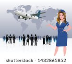 world business travel people... | Shutterstock .eps vector #1432865852