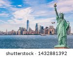 Statue Of Liberty In Front Of...