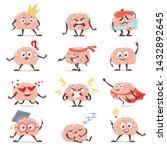 brain emotions cartoon set ... | Shutterstock .eps vector #1432892645