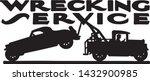 wrecking service   retro ad art ...   Shutterstock .eps vector #1432900985