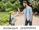 happy father and son shake...   Shutterstock . vector #1432905932
